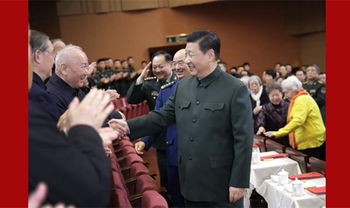 习近平向全军老同志祝贺新春